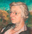 Painted portrait of Eileen Good.